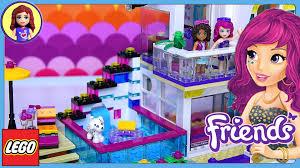 Lego Full House Lego Friends Livis Pop Star House Set Build Review Play Kids