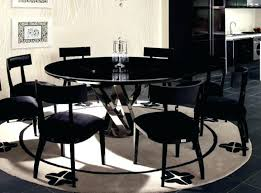 arctic white extending black glass dining table and 6 chairs marble seater room with round kitchen