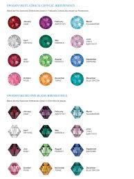 Swarovski Crystal Birthstone Chart Swarovski Birthstone Bead Colors Blue Zircon Beads