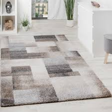 woven carpet chequered beige cream 001