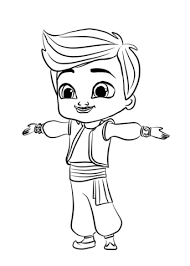 Kaz From Shimmer And Shine Coloring Page Free Printable Coloring Pages