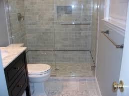 Bathroom  Bathroom Interior Gray Glass Tile Shower Room With - Glass tile bathrooms