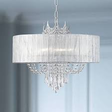 crystal chandelier pendant crown 21 wide fixture with shade for living room