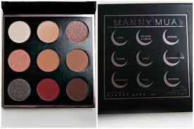 mannymua x makeup geek palette eyeshadow names