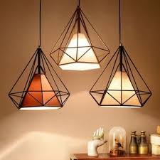 ceiling and lighting ideas um size modern industrial style metal wire frame ceiling light shades desk