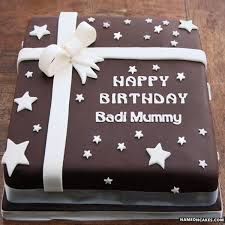 Dear mom, i don't know what i'd do without you. Happy Birthday Badi Mummy Cake Images