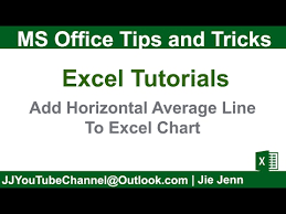 How To Add Average Line In Excel Chart How To Add Horizontal Average Line To Excel Chart Excel Charting Tutorial