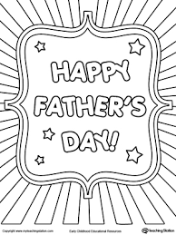 Small Picture Fathers Day Card Burst Coloring Page Worksheets Free and Adult