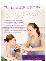 How To Be A Good Baby Sitter Becoming A Great Babysitter Pdf Archive