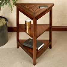 home furniture corner table design pictures features star top shelf and twin base shelves and alluring small home corner