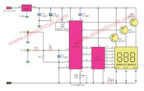 digital voltmeter wiring diagram just another wiring diagram blog • simple digital voltmeter circuit diagram by ca3162 ca3161 rh eleccircuit com digital multimeter wiring diagram digital