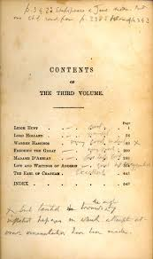 anthony trollope s marginalia in macaulay s critical and  most of trollope s judgements of macaulay however appear on the contents page of each of the three volumes since his pencilled annotations are