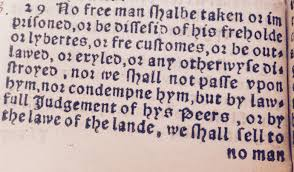 more magna carta the great charter of the secret clause 39 as it appears in the 1541 edition of ferrers translation the modern separation