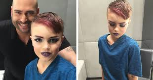 8 year old boy wants to become a professional makeup artist so he takes his first lesson and nails it becoming a mac makeup artist