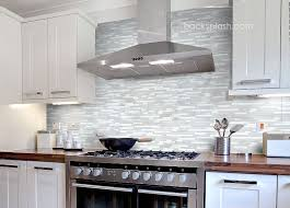 Elegant White Marble Glass Kitchen Backsplash Tile White Kitchen