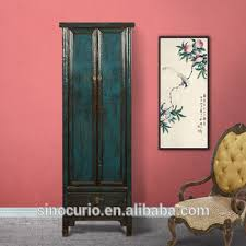 chinese antique wooden tall thin storage wardrobe cabinet antique storage cabinet with doors51 cabinet