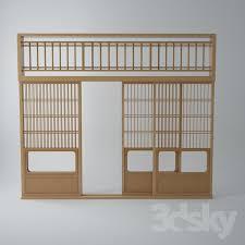 Japanese shoji doors Japanese Sliding Japanese Shoji Door Style 01 Studio Merkmann 3d Models Doors Japanese Shoji Door Style 01
