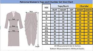 Churidar Measurement Chart Patrorna Blended Womens Square Neck A Line Kurti And