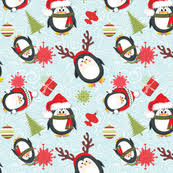 christmas penguin wallpaper. Modren Penguin Holiday Penguins Christmas Throughout Penguin Wallpaper C