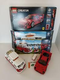 | browse our daily deals for even more savings! Lego Vw Bus Ferrari F40 Mini Vw Bus Lot 10220 10248 40079 Pre Owned Complete Vw Bus Lego Cars Ferrari F40