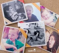 how to make photo coasters diy card blog