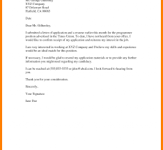 Bistrun Follow Up Cover Letter After Submitting Resume Email