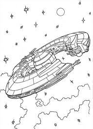 Spaceship Coloring Pages Barriee Coloring Home