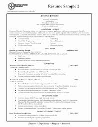 College Student Job Resume Sample Fresh Sample Resume Templates For