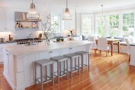 ... Elegant Eat In Kitchen Photo In New York With Subway Tile Backsplash  Marble Countertops ...