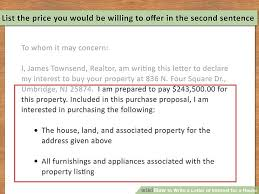Letter Of Intent Real Estate Magnificent 44 Ways To Write A Letter Of Interest For A House WikiHow