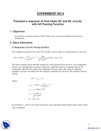 transient response of first order rc electrical circuit ysis this is only a preview capacitor