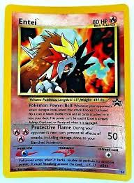 Biggest art robbery in decades: Entei 34 Promo Holo Foil Rare English Black Star Old Card Vtg Wotc Pokemon 2001 Ebay