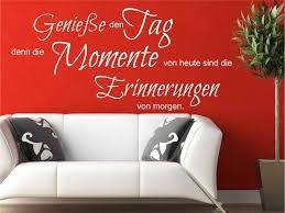 Wandtattoo Genieße Den Tag Momente Erinnerungen Von Morgen M1402