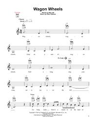 wagon wheel sheet music download wagon wheels sheet music by hank snow sheet music plus
