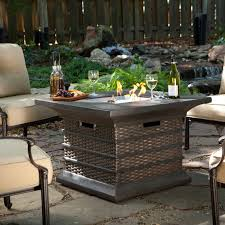 home interior noted wicker fire pit alfresco 52 in weave round propane with base wicker fire pit i1