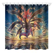 Ants lift the trunk Anime Shower Curtain Dragon Pokemon Bathroom Waterproof  Eco Friendly Polyester Fabric for Kids Bathtub Decor|Shower Curtains