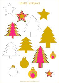 printable holiday templates tree star and bauble christmas printables