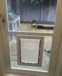 large dog door for glass
