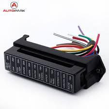 circuit box wiring reviews online shopping circuit box wiring kkmoon 12 way dc 12v volt fuse box 24v 32v circuit car trailer auto blade fuse box block holder atc ato 2 input 12 ouput wire