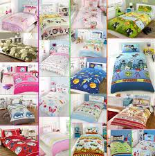 boys girls kids character duvet quilt cover bedding sets from 9 99