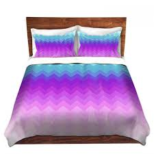 artistic duvet covers and shams bedding organic saturation pastel ombre chevron