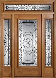 exterior wooden doors with glass panels awesome wood door