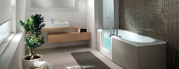gorgeous bathtub shower combo with glass shower door and floating vanity ideas