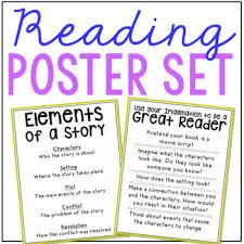 Reading Comprehension Posters Anchor Charts Ela Language Arts Free