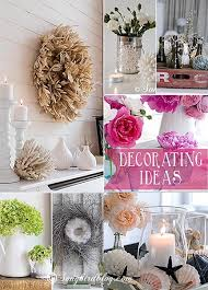 Decorating Ideas: mantel decorations and table centerpieces