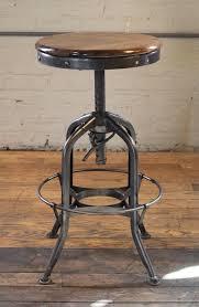 american original vintage toledo backless wood and metal adjule bar stool for