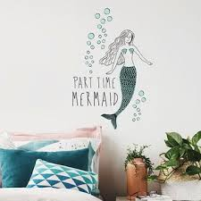 part time mermaid wall e decals