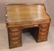 globe wernicke roll top desk