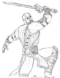 Small Picture Mortal Kombat Coloring Pages coloringsuitecom