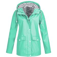 fit blue mirray womens coats las autumn winter solid rain jackets outdoor plus size waterproof outerwear